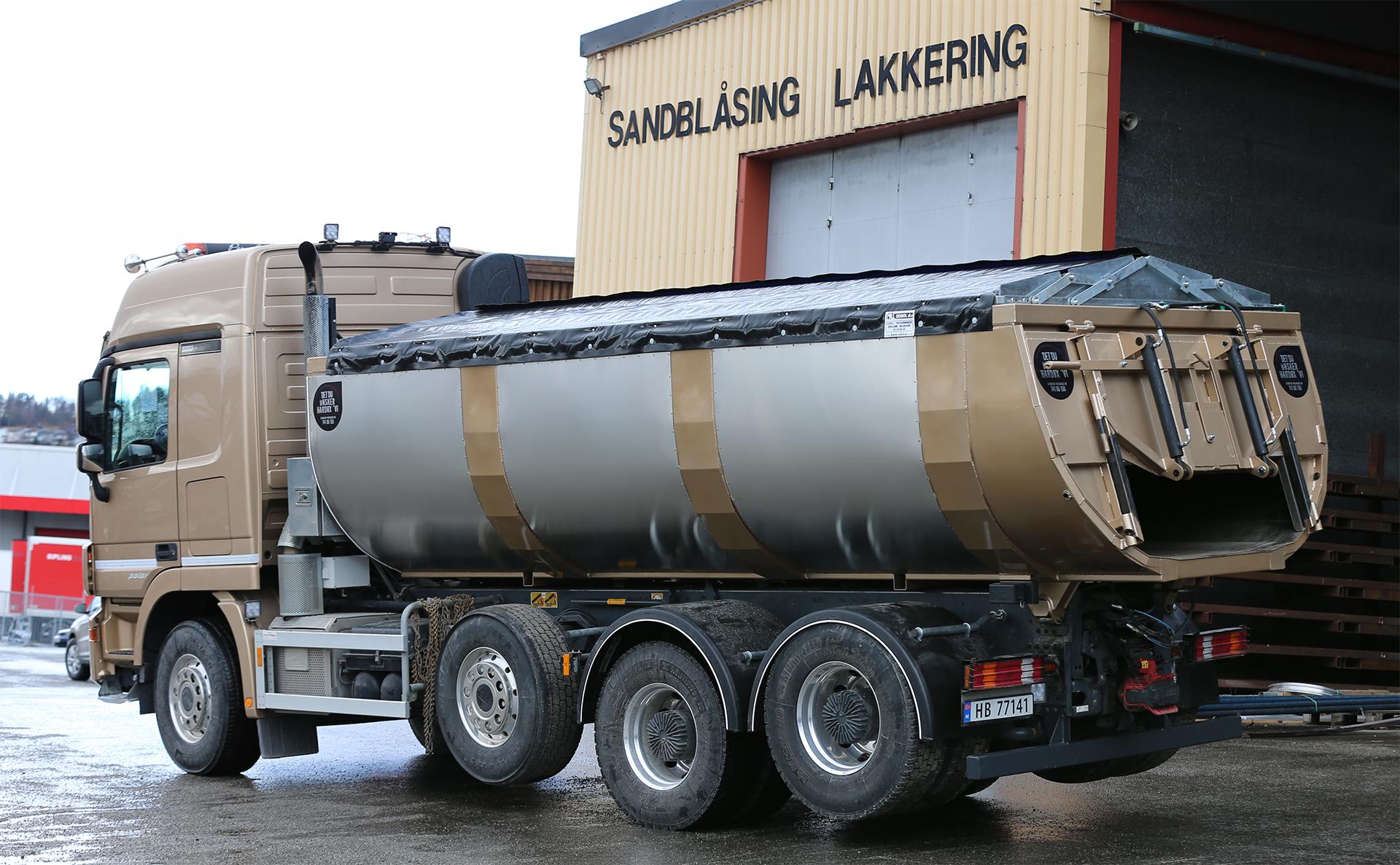 Gullakkert Asfalftbalje /Asfalttraug i Hardox 450 Stål levert ~ Kunde: Per A Skogly, Heimdal