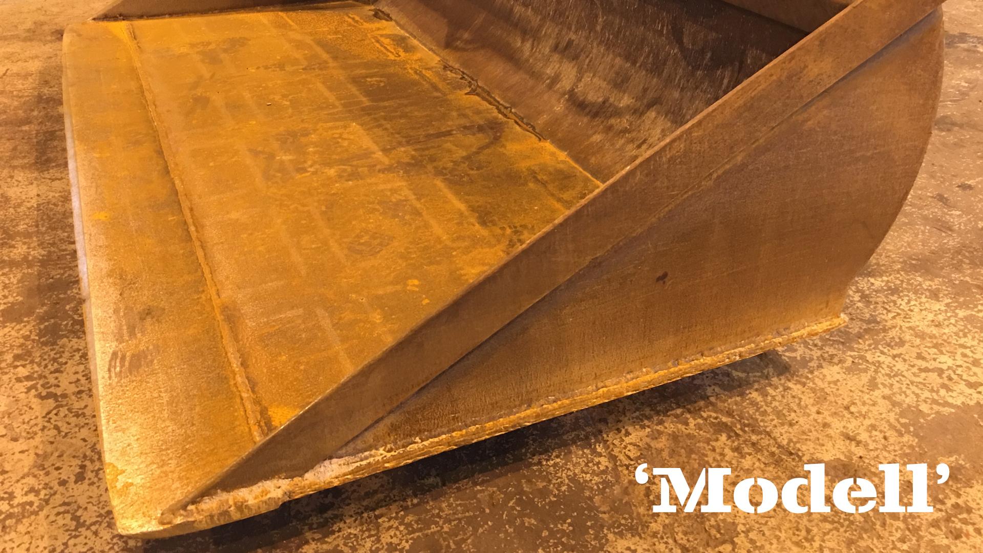 Modell til NY Planeringsskuffe i Hardox 450 Stål ● Steinkjer Mekaniske AS