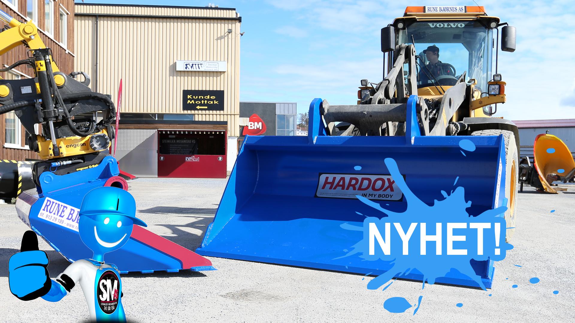 NY Planeringsskuffe i Hardox 450 Stål ● Steinkjer Mekaniske AS