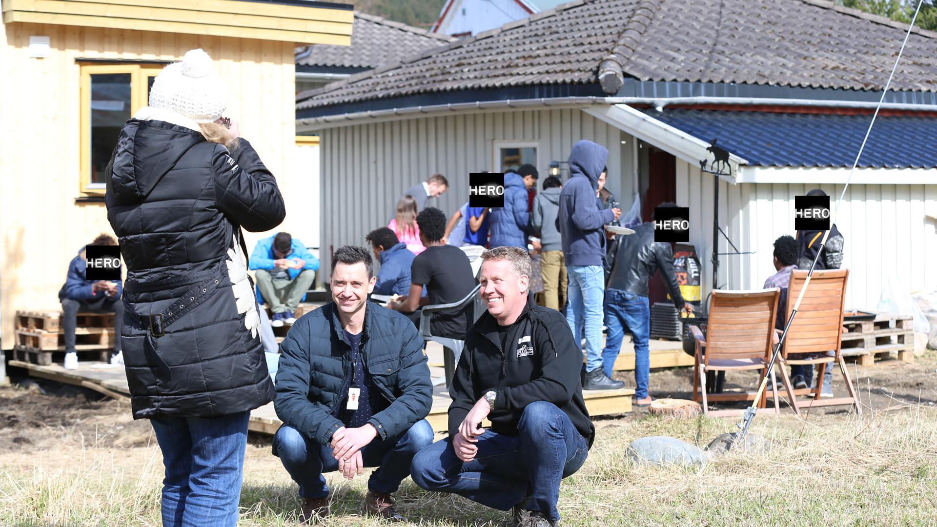 BÅLPANNE BLE BROBYGGER · Steinkjer Mottakssenter, Hero Norge