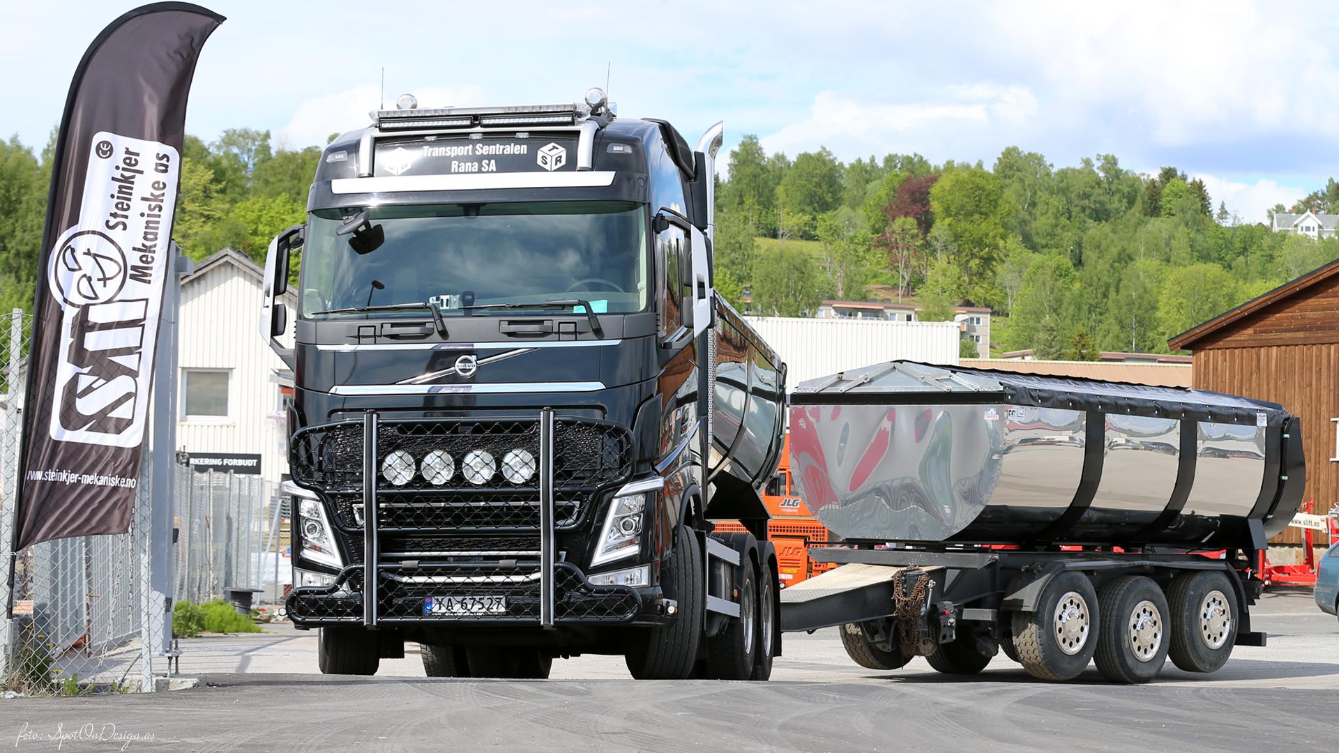 Asfaltbalje til bil og henger i Hardox 450 Stål levert · Kunde: Espen Ward