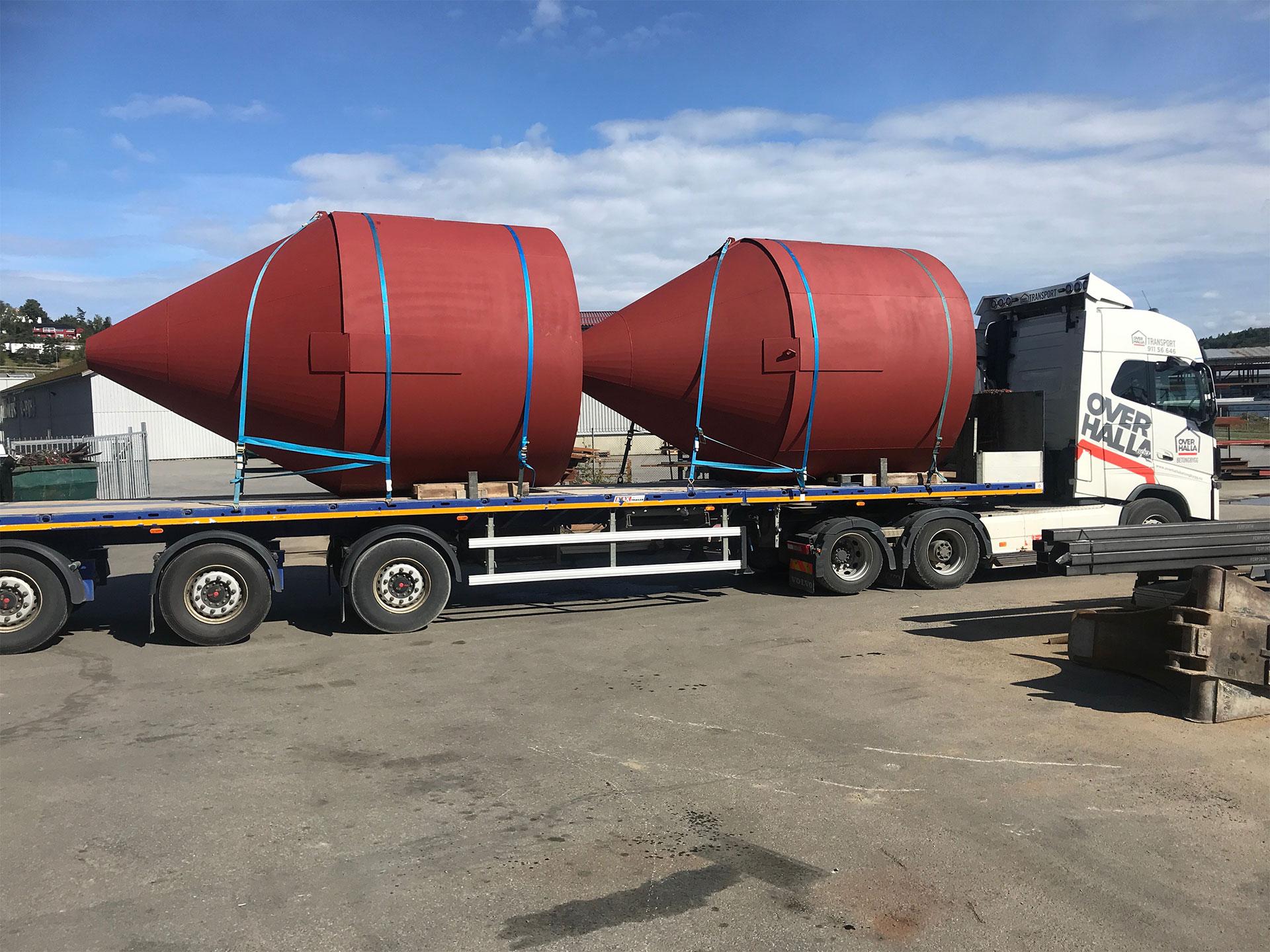 Nærmere 11 tonn stål brukt, for konstruksjon/produksjon av 2 stk 3.2 Ø-mtr og ca 12 mtr høye #SEMENTSILOER for kunde Overhalla Mek. Verksted AS (OMEK).